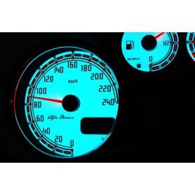 Alfa Romeo 147 , GTA , GT design 2 PLASMA TACHO GLOW GAUGES TACHOSCHEIBEN DIALS