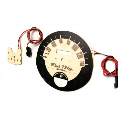 FIAT 126p glow face gauge