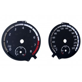Volkswagen Golf 7 R - Replacement tacho dial - converted from MPH to Km/h