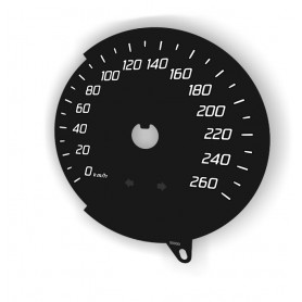 Ford Convers+, S-MAX, Ford Mondeo Mk4 - zamiennik tarczy licznika z MPH na km