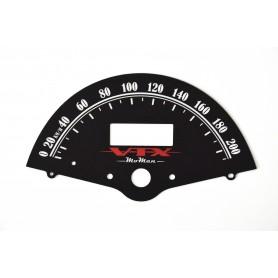 Honda VTX 1300 (zamiennik tarczy licznika z MPH na km/h)