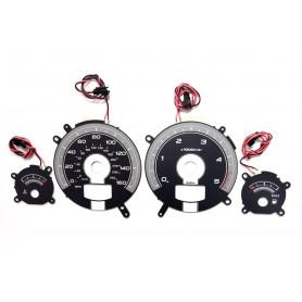 Volvo S60, S70, S80, V70, XC70, XC90 (2000-2009) wzór 2 tarcze licznika zegary INDIGLO