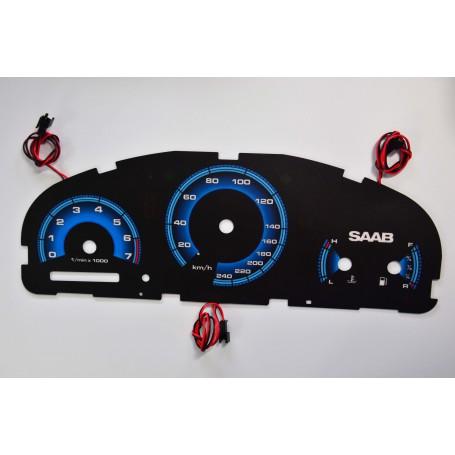 Saab 9-5 / 9-3 / Aero świecące tarcze licznika INDIGLO