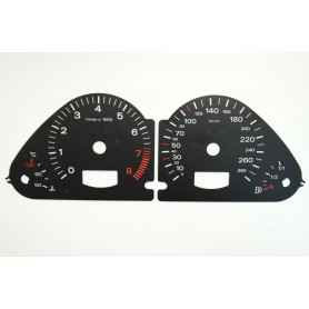 Audi A6 (C6) Replacement tacho dial - converted from MPH to Km/h
