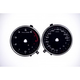 Audi A3 (8V) - Replacement tacho dials MPH to km/h