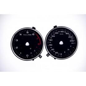 Audi A3 (8V) - Replacement tacho dials MPH to km/h