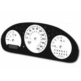CHRYSLER VOYAGER 2001-2007 - replacement dials converted from MPH to Km/h tacho counter
