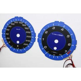 BMW E90 wzór 2 tarcze licznika zegary INDIGLO