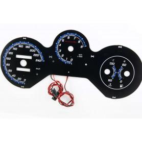 Fiat Barchetta design 2 PLASMA TACHO GLOW GAUGES TACHOSCHEIBEN DIALS