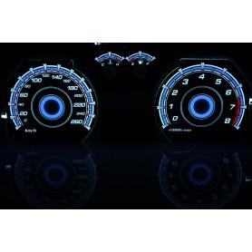 Hyundai Coupe 2gen. (2002-2008) design 2 PLASMA TACHO GLOW GAUGES TACHOSCHEIBEN DIALS