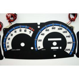 Opel Omega B i C - wzór 3 tarcze licznika zegary INDIGLO