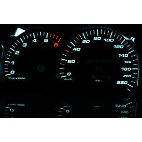 Opel Omega B i C - wzór 4 tarcze licznika zegary INDIGLO