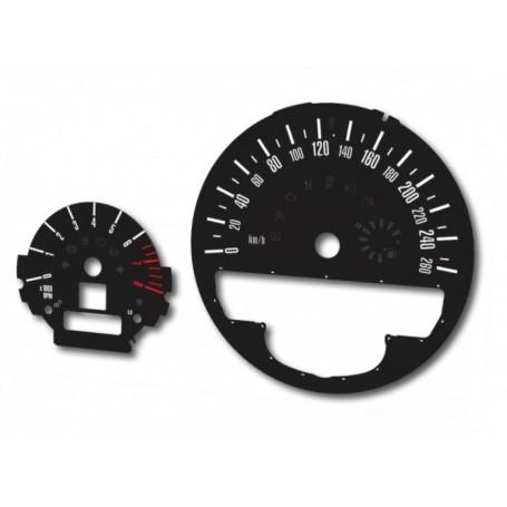 Mini 2, Countryman - tarcze licznika zamiennik z MPH na km (czarny)