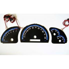 Opel Vectra B wzór 3 tarcze licznika zegary INDIGLO
