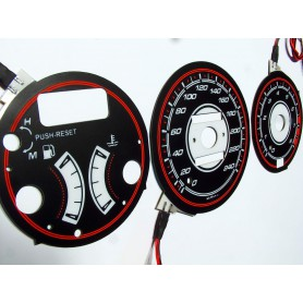 Mazda MX-3 wzór 2 tarcze licznika zegary INDIGLO