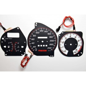 Mazda MX-3 wzór 3 tarcze licznika zegary INDIGLO