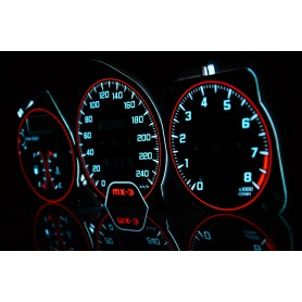 Mazda MX-3 wzór 4 tarcze licznika zegary INDIGLO