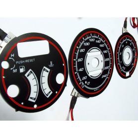 Mazda 323F BG wzór 2 tarcze licznika zegary INDIGLO