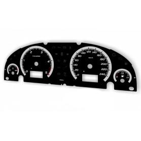 Ford Mondeo MK3 - po lifcie wzór 2 tarcze licznika INDIGLO zegary