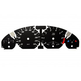BMW E46 - Replacement tacho dial - converted from MPH to Km/h