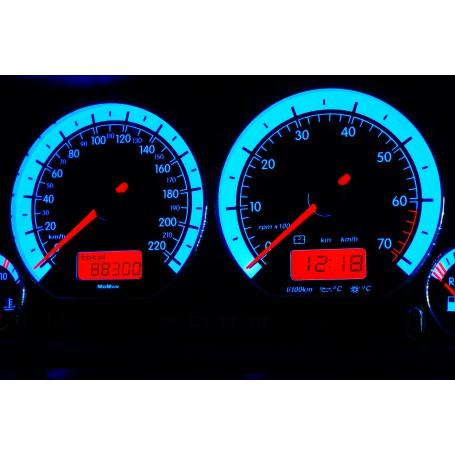 Volkswagen Golf 3 Design 1 plasma tacho glow gauges tachoscheiben dials