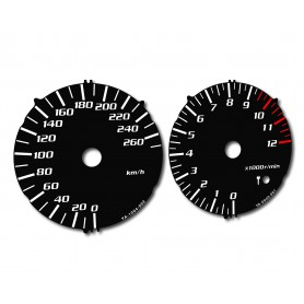Yamaha XJR 1300 2007-2012 - replacement tacho dials from MPH to km/h