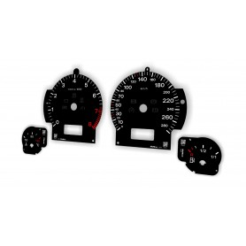 Audi A8 (D3 2000–2009) Replacement tacho dial - converted from MPH to Km/h