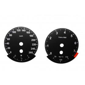BMW E63, E64 - zamiennik tarcz licznika z MPH na km/h