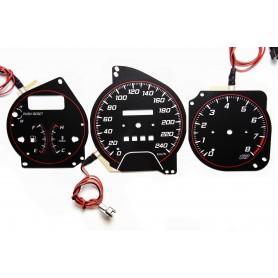 Mazda 323F BG wzór 4 tarcze licznika zegary INDIGLO