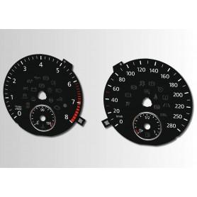 Volkswagen Passat CC - zamiennik tarcz licznika z MPH na km/h