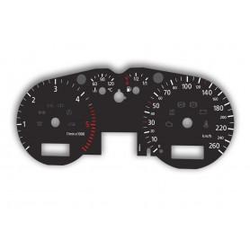 Audi A3 (8L i 8L0) 1996-2003 - zamiennik tarcz licznika z MPH na km
