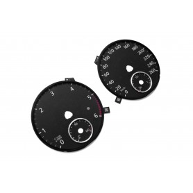 Volkswagen Passat B6, B7 - Replacement tacho dials - converted from MPH to Km/h