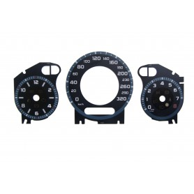 Mercedes W202, W209 i W211- Replacement dial - converted from MPH to Km/h