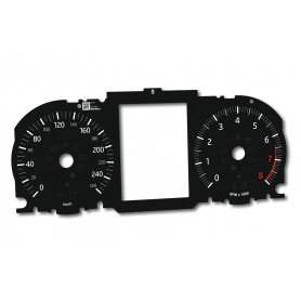 Range Rover Evoque - Replacement dial - converted from MPH to Km/h
