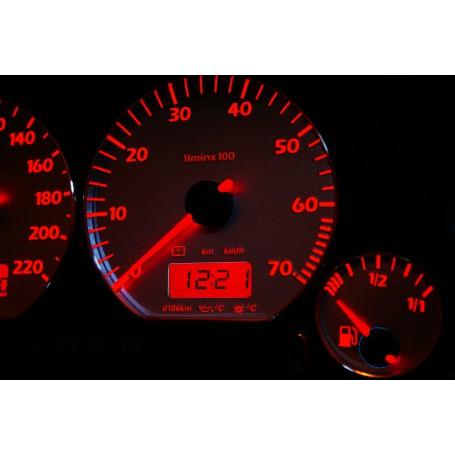 Volkswagen Caddy Wzór 4 świecące tarcze licznika INDIGLO