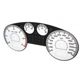 Seat Toledo 2 / Leon 1 - zamiennik z MPH na km/h (biały)