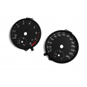 Volkswagen Golf 7 - Replacement tacho dials - converted from MPH to Km/h