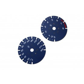 Maserati Ghilbi - Replacement dial - converted from MPH to Km/h