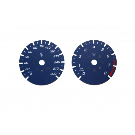 Maserati Quattroporte 6 - Replacement tacho dial - converted from MPH to Km/h
