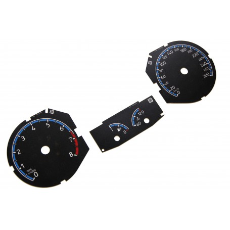 Ford Focus MK3 RS- Replacement tacho dial - converted from MPH to Km/h