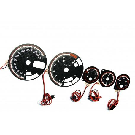 Alfa Romeo 156 design 1 plasma tacho glow gauges tachoscheiben dials