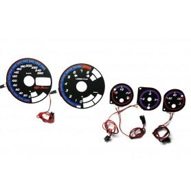 Alfa Romeo 156 WZÓR 4 tarcze licznika zegary INDIGLO