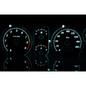 Mitsubishi FTO wzór 5 tarcze licznika zegary INDIGLO