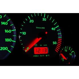 Volkswagen Vento / Jetta MK3 Wzór 6 świecące tarcze licznika INDIGLO