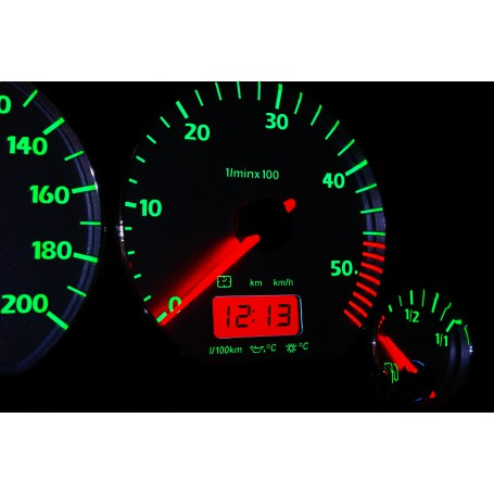 Volkswagen Vento / Jetta MK3 Design 6 PLASMA TACHO GLOW GAUGES TACHOSCHEIBEN DIALS