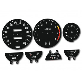 Datsun 280 Z - Replacement dial - converted from MPH to Km/h