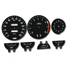Datsun 280 Z - zamiennik tarcz licznika z MPH na KM/H