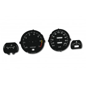 Datsun 280 ZX - Replacement tacho dial - converted from MPH to Km/h