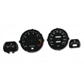Datsun 280 ZX - zamiennik tarcz licznika z MPH na KM/H