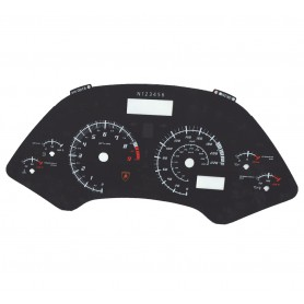 Lamborghini Murcielago 2001-2005 - Replacement dial - converted from MPH to Km/h